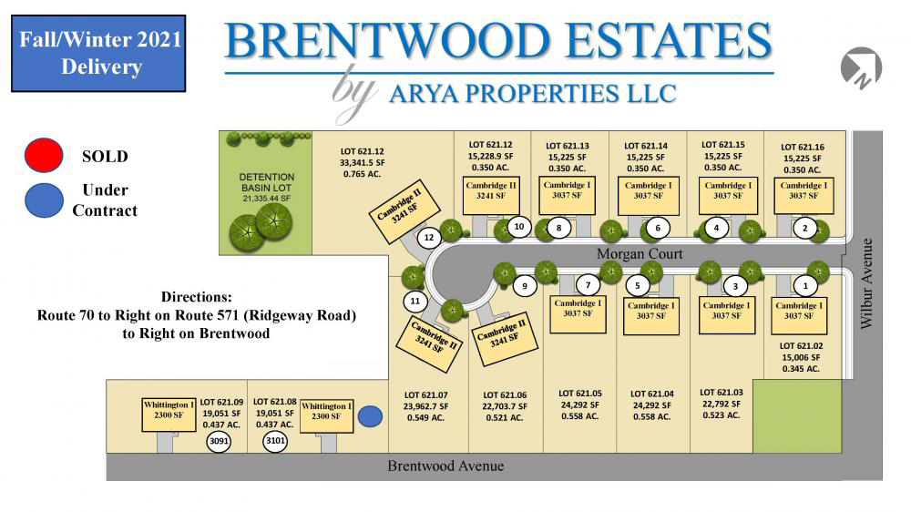 Brentwood Estates Available Lots