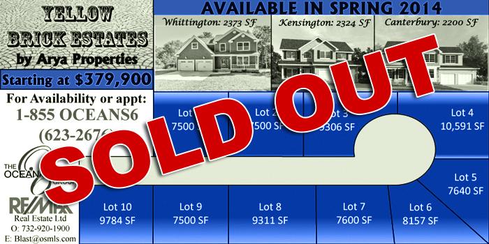 Yellow Brick Estates Available Lots